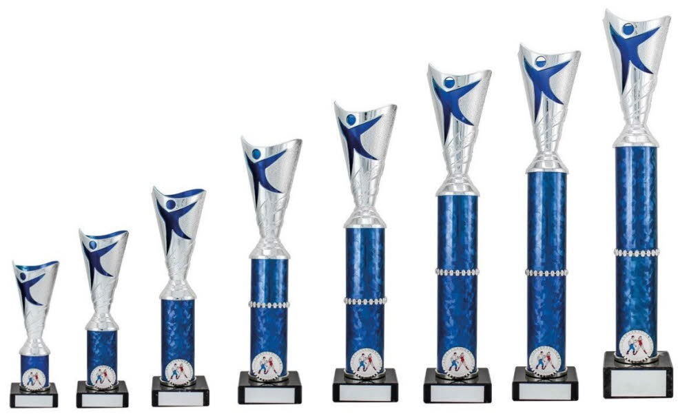 Silver/Blue Modern Dance Trophies