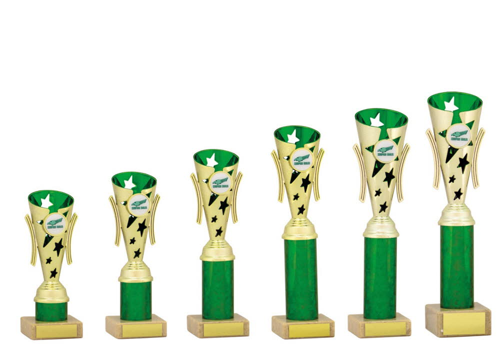 Gold and Green Modern Star Cups