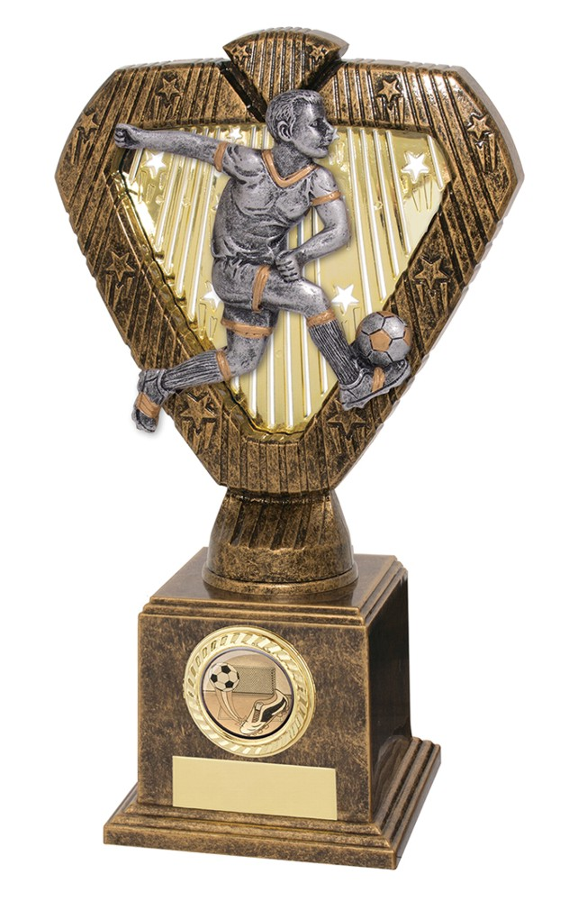Hero Legend Male Striker Football Trophies
