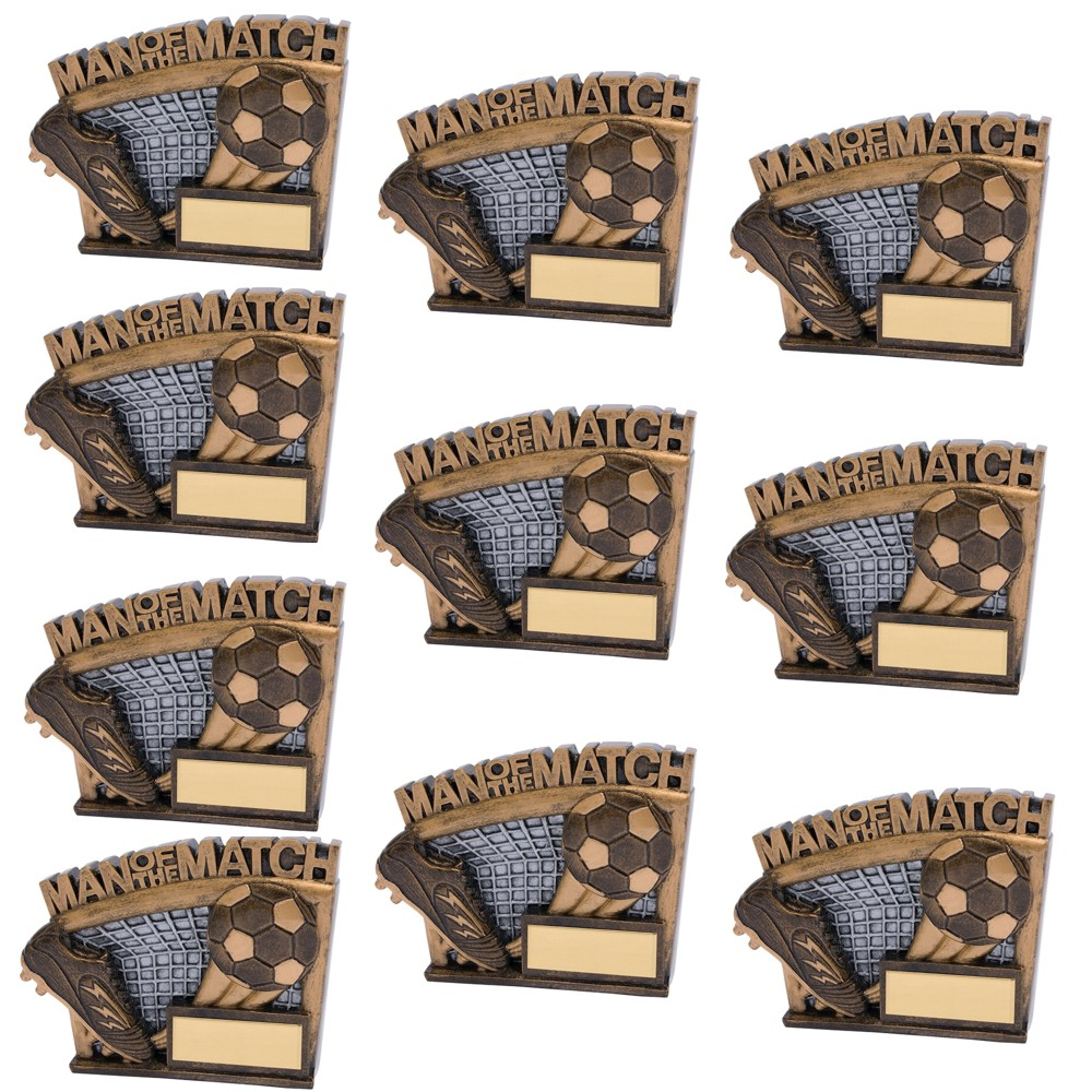 Man of the Match Agility Set of 10 Football Trophies