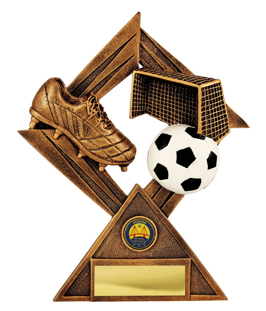 Antique Gold Football Scene Trophies