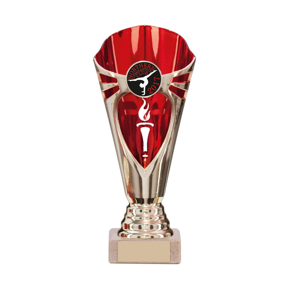 Any Sport Gold & Red Challenger Cup Trophies
