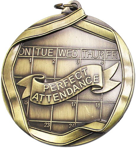 Perfect Attendance Medal & Ribbon