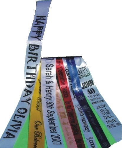 Customised Printed Ribbons 25mm Ideal For Cakes