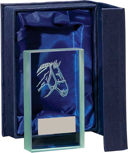 Horse Head Glass Plaques