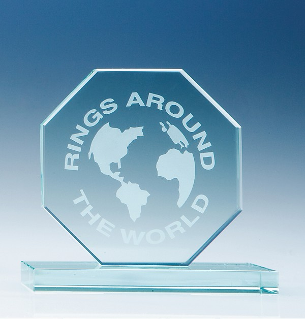 Jade Glass Octagon Award