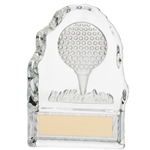 Crystal Golf Ball Block Trophies