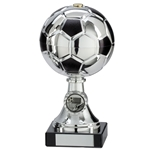 Silver and Black Milano Metal Football Trophies