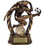 Female Resin Football Figure Trophies