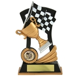 Chequered Flag and Cup Trophies