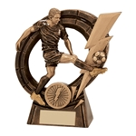 Resin Thunderbolt Male Striker Football Trophies