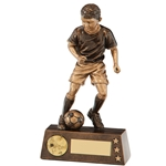 Resin Protege Boy Football Figure Trophies