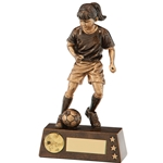 Resin Protege Girl Football Figure Trophies