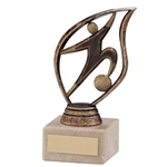 Flame Football Figure Trophies