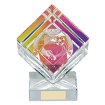 Victorious Crystal Football Cube Trophies
