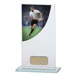 Rugby Curve Premium Jade Glass Trophies