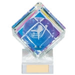 Victorious Crystal Golf Cube Trophies