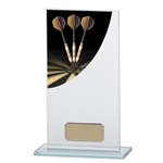 Darts Premium Glass Plaques