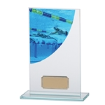 Swimming Premium Glass Plaques