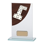Dominoes Premium Glass Plaques