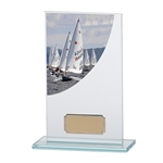 Music Curve Jade Glass Trophies