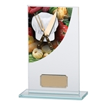 Chef/Cooking Curve Jade Glass Trophies