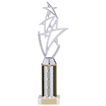 Any Sport Figure Trophies Silver Tubing