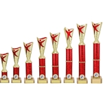Gold/Red Modern Dance Trophies