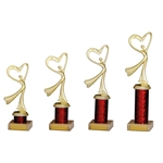 Gold and Red Modern Dance Trophies