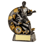 Resin Silver Male Football Figure Trophies