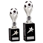 Silver Football Ball Trophies