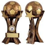 3D Antique Bronze Resin Football Ball Trophies