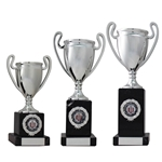 Silver Cup Column Multi Sport Trophies