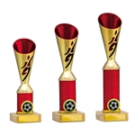 Gold/Red Football Player Cup Trophies