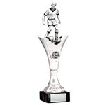 Large Silver Football Figure Trophies