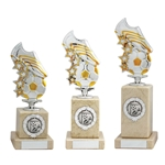 Silver and Gold Football Boot Trophies