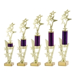 Gold and Purple Star Achievement Trophies