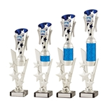 Silver and Blue Modern Star Cup Trophies