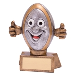 Little Smiler Rugby Ball Trophies