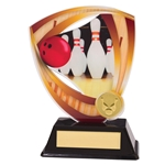 Acrylic Fortress Ten Pin Bowling Trophies