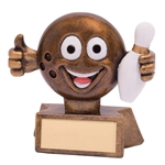 Resin Smiler Ten Pin Bowling Trophies