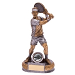 Resin Male Ace Tennis Figure Trophies