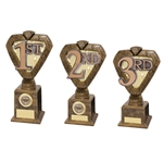 Hero Legend 1st, 2nd and 3rd Place Trophies