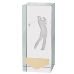 Crystal 3D Golf Male Trophies