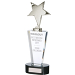 Chicago Silver Star Crystal Trophies
