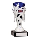 Silver and Blue Star Cups