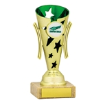 Gold and Green Star Cups