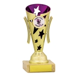 Gold and Purple Star Cups