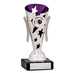 Silver and Purple Star Cups
