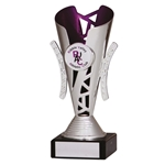 Silver and Purple Presentation Cups